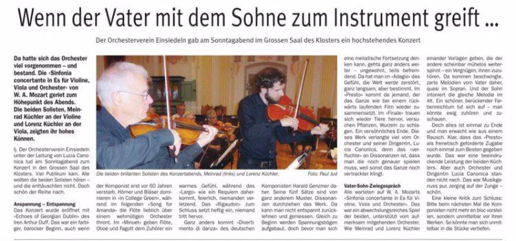 Zeitungsbericht zum Konzert vom 14. Januar 2018