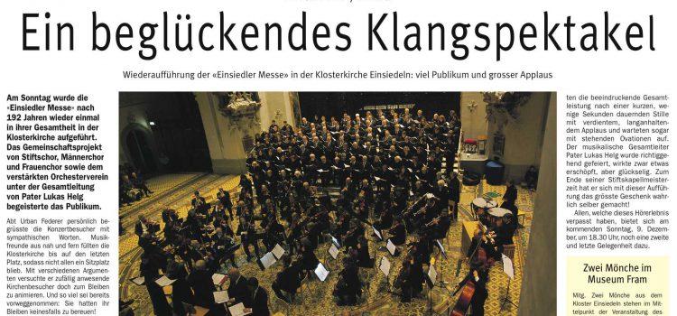 Zeitungsbericht zum Mayr-Konzert vom 2. Dez. 2018